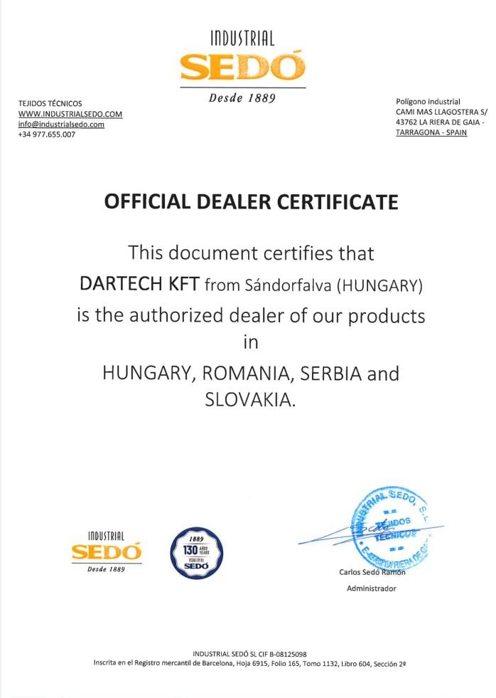 sedo-certificate